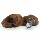 Crystal Minx Detachable Faux Pony Tail Brown Sex Toy Product