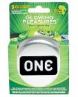 One glowing pleasures condoms - box of 3 Sex Toy Product
