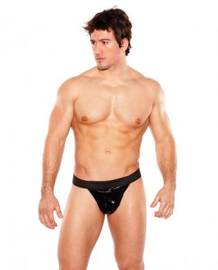 Zues wet look thong black o/s