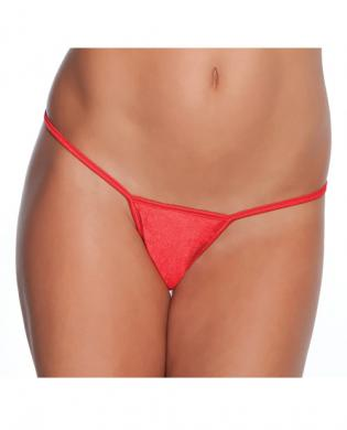 Low Rise Lycra G-String Red O/S