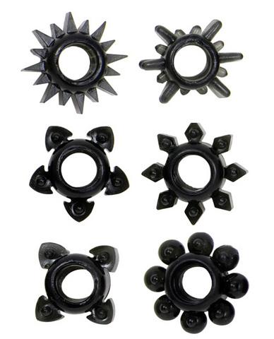 Tower Of Power C Rings 6 Pack - Black