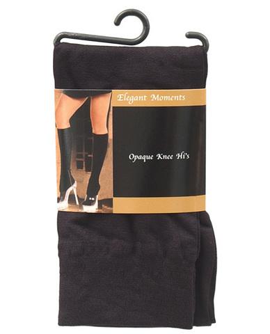 Opaque knee hi black o/s