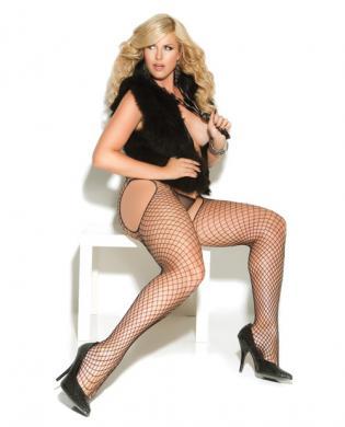 Vivace diamond net suspender pantyhose black qn