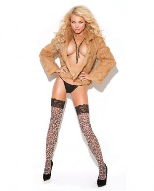 Vivace lace top thigh high leopard o/s