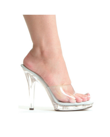 Ellie shoes, m-vanity 5in pump clear seven