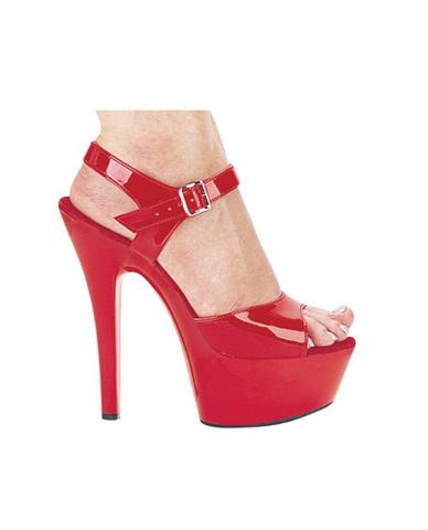 Ellie shoes, juliet 6in pump 2in platform red nine