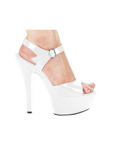 Ellie shoes, juliet 6in pump 2in platform white six