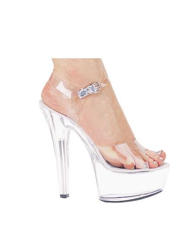 Ellie shoes, brook 6in pump 2in platform clear ten