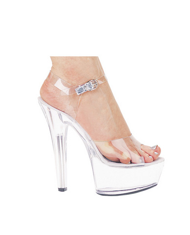 Ellie shoes, brook 6in pump 2in platform clear seven