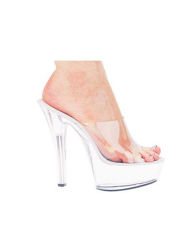 Ellie shoes, vanity 6in pump 2in platform clear eight