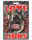 Gold plastic love links cuffs Sex Toy Product