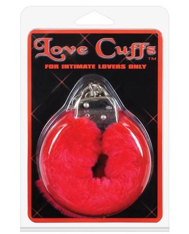 Love cuffs furry - red