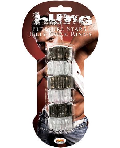 Pleasure Stars Jelly C Rings 6 Per Pack