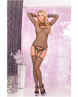 Pink lipstick 3 pc fishnet garter set black m/l Sex Toy Product
