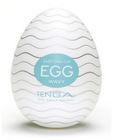 Tenga Easy Beat Egg Wavy White Stroker Sex Toy Product