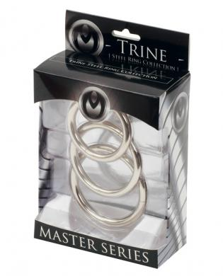 Trine Steel Cock Ring Collection 3 Piece