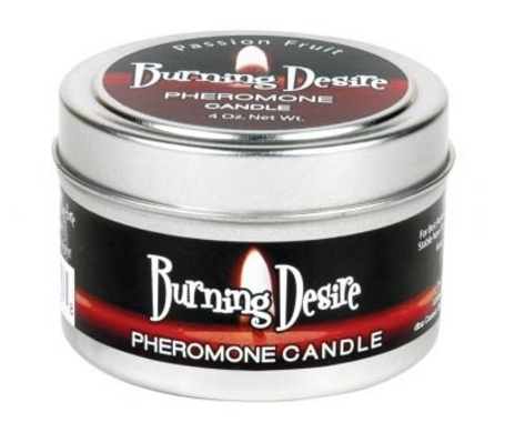 Burning Desire Candle Pheromones Passion Fruit 4oz