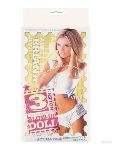 Vivid Superstar 3 Hole Doll With Actual Face Briana Sex Toy Product