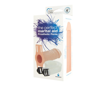 Doctor Loves The Perfect Marital Aid Prosthetic Penis Extension 6 Inch - Beige