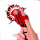 The FingO Glow - Finger-Fitting Light-Up Mini Massager - Red Sex Toy Product