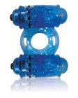 O Wow Double Wammy Blue Vibrating Ring Sex Toy Product