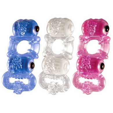 Tri O Triple Pleasure Ring Assorted Colors