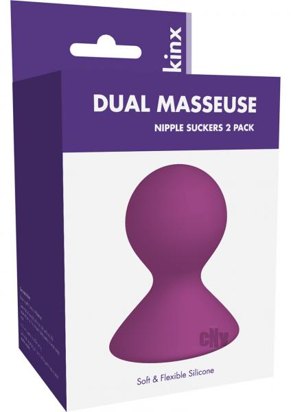 Dual Masseuse Silicone Nip Suckers Kinx