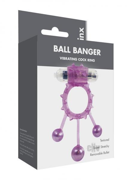 Linx Ball Banger Cock Rings Purple Os