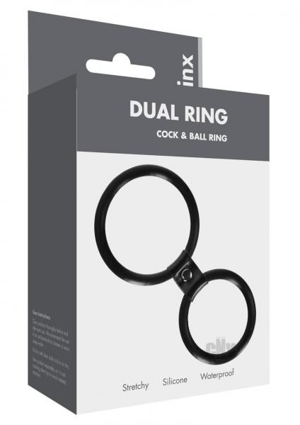 Linx Dual Ring Cock Ring Black Os