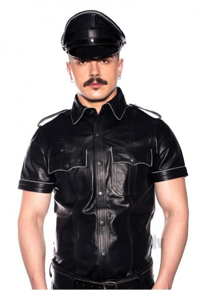 Prowler Red Police Shirt Pipe Gry/blk Lg