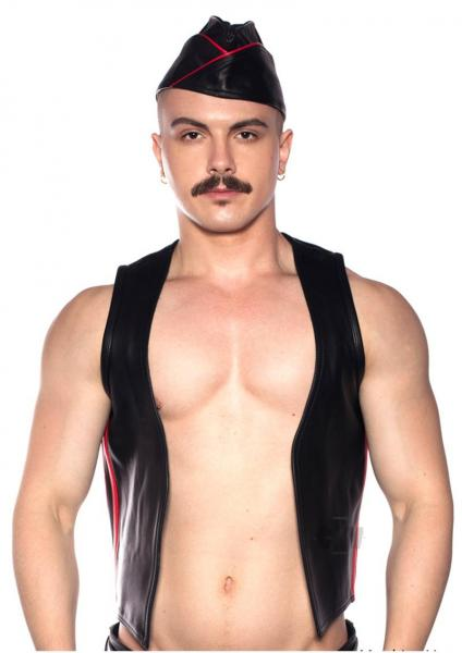 Prowler Red Waistcoat Stripe Red/blk Lg