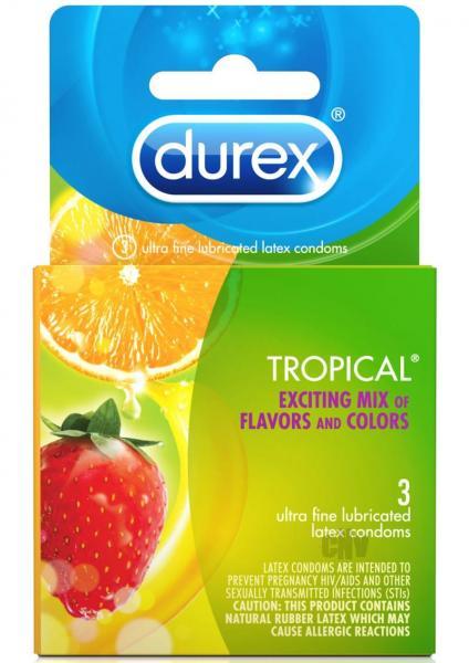Durex Tropical 3 Pack Latex Condoms