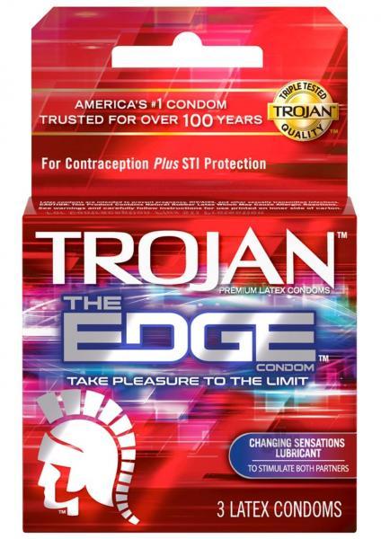 Trojan The Edge Condom 3 Pack Latex Condoms