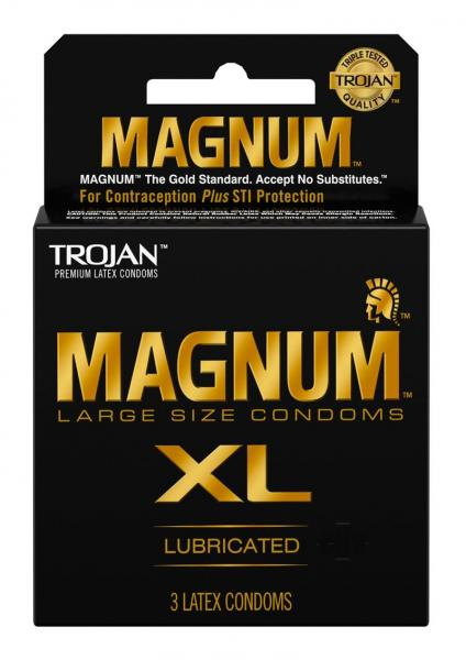 Trojan Magnum XL 3 Pack Latex Condoms