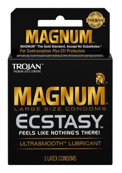 Trojan Magnum Ecstasy Latex Condoms 3 Pack