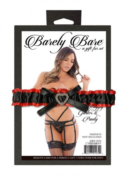 Strappy Garter And Panty Black