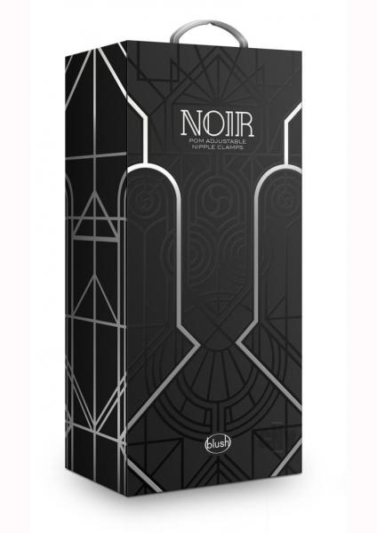 Noir Pom Adjust Nipple Clamps Blk