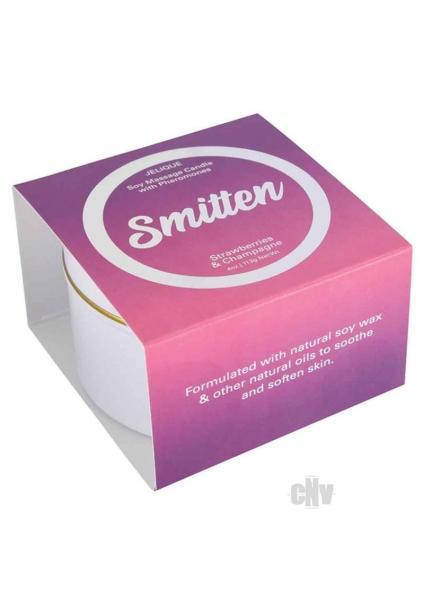 Massage Candle Smitten Straw/champ 4oz