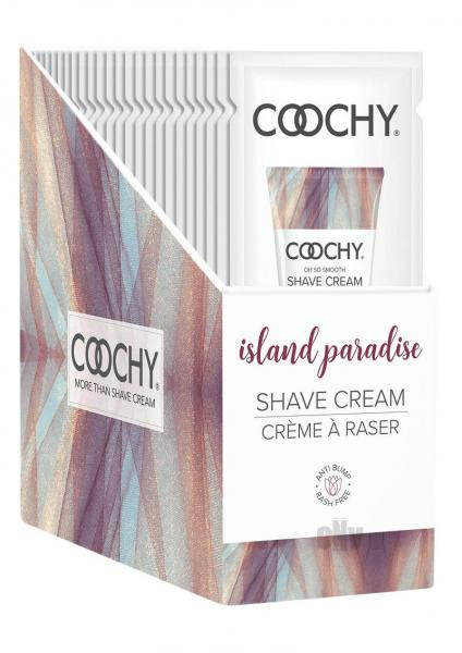 Coochy Shave Cream Island Paradise Foil 15ml 24pc Display