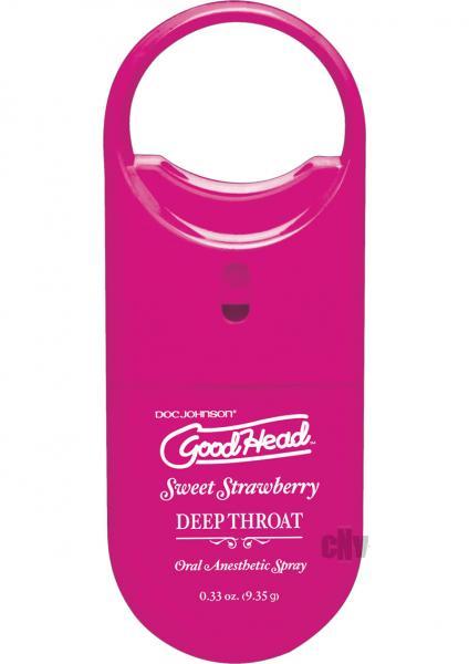 Goodhead Deep Throat To Go Strawberry Spray