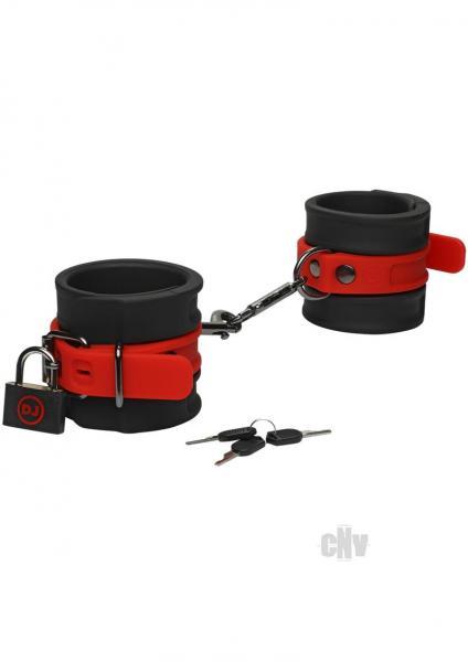 Kink Silicone Wrist Cuffs Blk/red