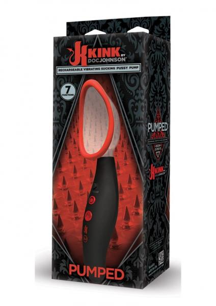 Kink Pumped Vibrating Vagina Pump Black Red