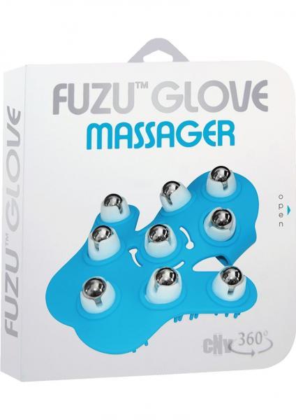 Fuzu Glove Massager Neon Blue