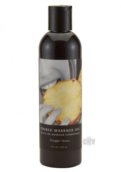 Edible Tropical Massageoil Pineapple 8oz