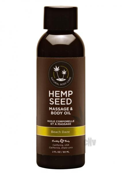 Hemp Seed Massage Oil Beach Daze 2oz