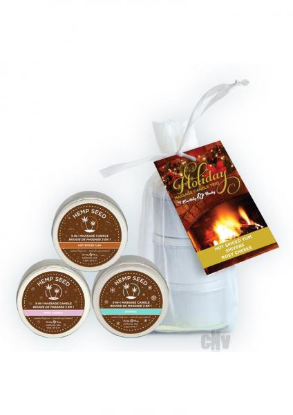 Hemp Seed Holiday Candle Trio 2020
