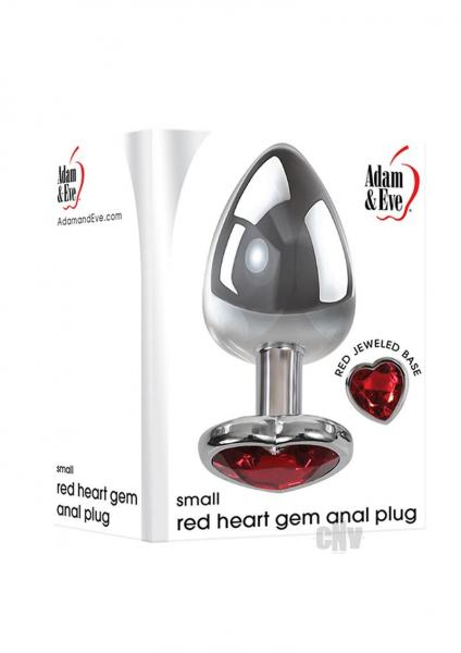 Aande Heart Gem Anal Plug Small Red