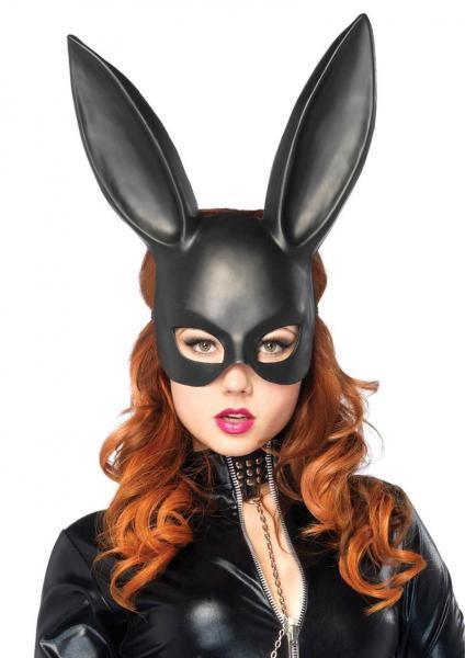 Bondage Bunny Mask Os Black