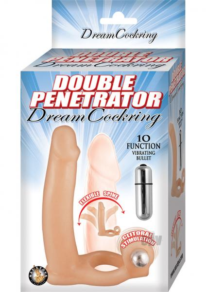 Double Penetrator Dream Cockring Beige