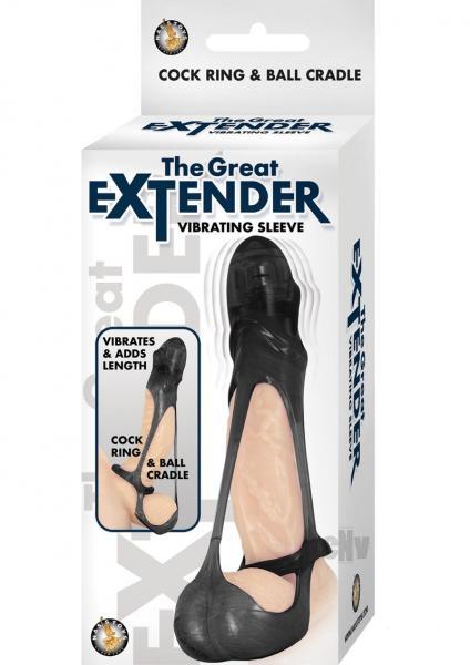 Great Extender Vibrating Sleeve - Black